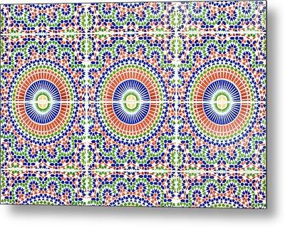 Moroccan Tiles Metal Print by Tom Gowanlock