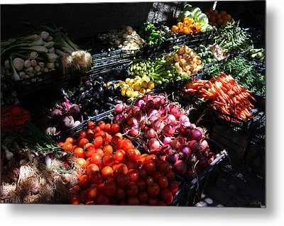 Metal Print featuring the photograph Moroccan Vegetable Market by Ramona Johnston