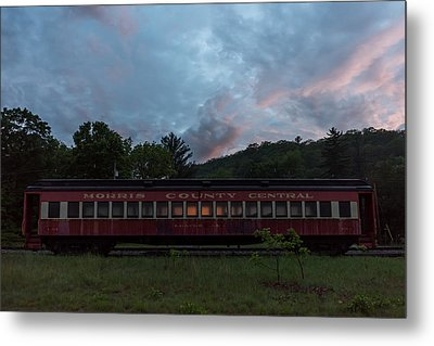 Morris County Central Railroad Passenger Car  Metal Print by Terry DeLuco