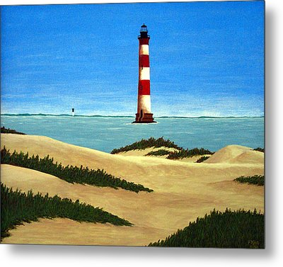 Morris Island Lighthouse Metal Print by Frederic Kohli