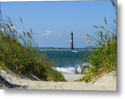 Morris Island Lighthouse Walkway Metal Print by Jennifer White