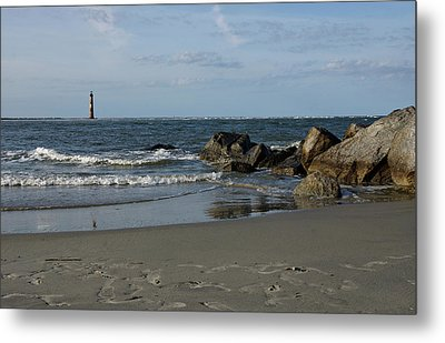 Metal Print featuring the photograph Morris Lighthouse by Sandy Keeton