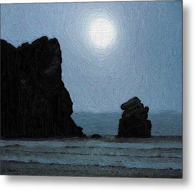 Morro Bay Rock Metal Print by Joe Bonita