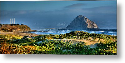 Morro Rock And Beach Metal Print by Steven Ainsworth