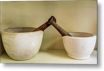 Metal Print featuring the photograph Mortar And Pestle by Paul Freidlund