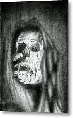 Metal Print featuring the drawing Mortelle Les Yeux by Michael McKenzie