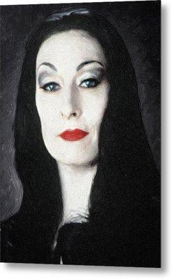 Morticia Addams  Metal Print by Taylan Apukovska