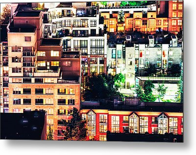 Mosaic Juxtaposition By Night Metal Print by Amyn Nasser