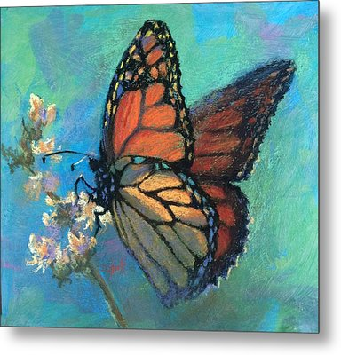 Mosaic Monarch Metal Print
