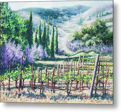 Mosby's Vines On Santa Rita Hills Metal Print