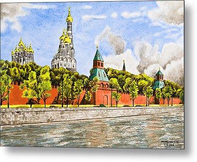 Moscow River Metal Print by Svetlana Sewell