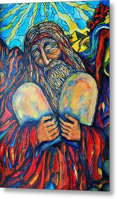 Moses Metal Print by Rae Chichilnitsky