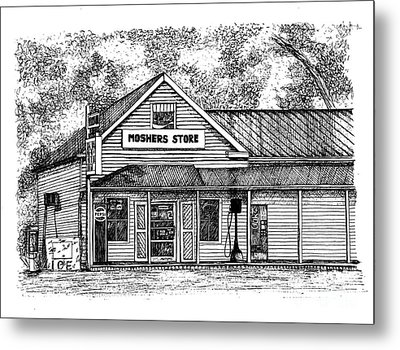 Moshers Store Mercantile Metal Print by Dawn Boyer