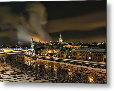 Metal Print featuring the photograph Moskva River by Gouzel -