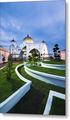 Mosque In Malaysia Metal Print by Ng Hock How
