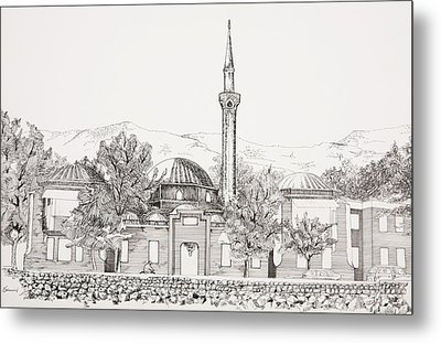 Mosque In Sarajevo Careva Dzamija Metal Print by Ramo Sabanovic