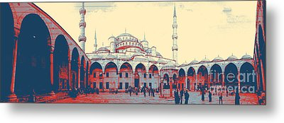 Mosque In Turkey Metal Print