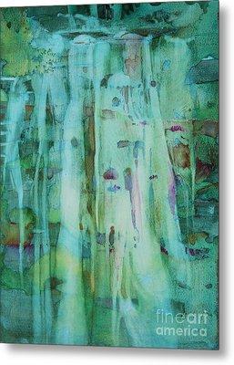 Mossy Falls Metal Print by Elizabeth Carr