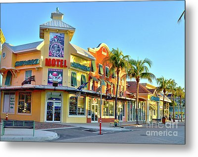 Motel On Fort Myers Beach Florida Metal Print by Timothy Lowry
