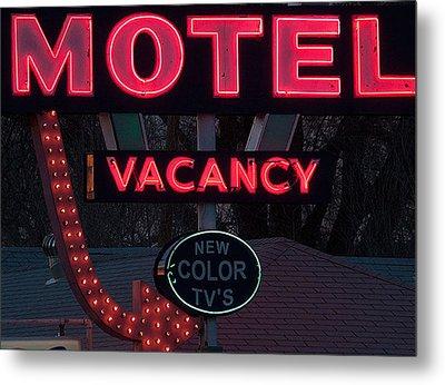 Motel-pink Metal Print