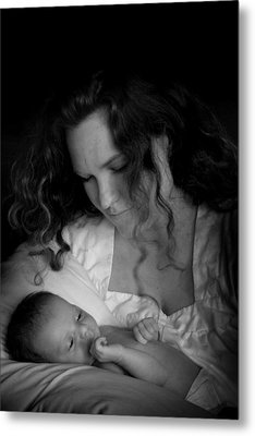 Mother And Baby Metal Print by Kelly Hazel