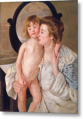 Mother And Boy Metal Print by Mary Stevenson Cassatt