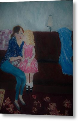 Mother And Child, Metal Print by Aleezah Selinger
