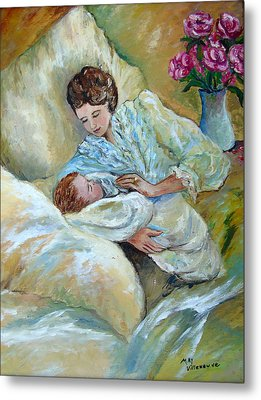 Mother And Child By May Villeneuve Metal Print