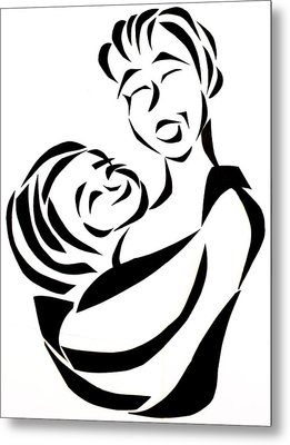 Mother And Child Metal Print by Delin Colon