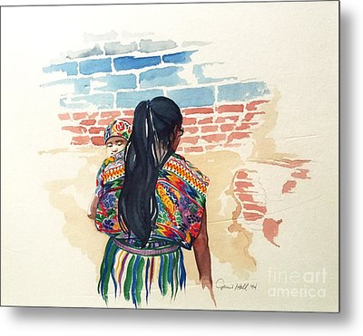 Mother And Child Metal Print by Donna Newsom