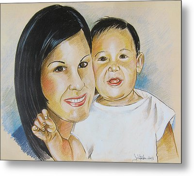 Mother And Child Metal Print by John Keaton