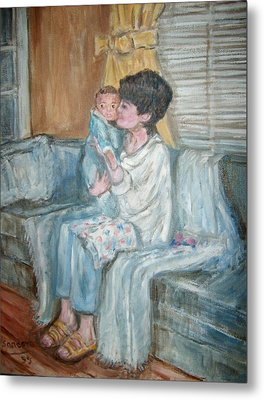 Mother And Child R Metal Print by Joseph Sandora Jr