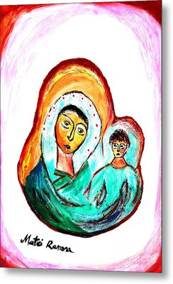 Mother And Child Metal Print by Ramona Matei
