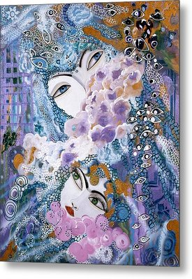 Mother And Daughter Metal Print by Sima Amid Wewetzer