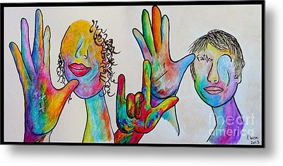 Mother And Father I Love You Metal Print by Eloise Schneider