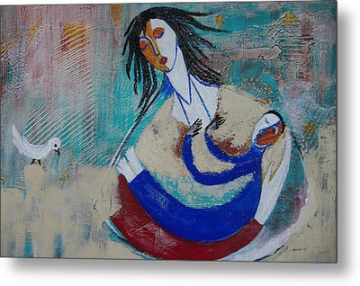 Mother And The Child Metal Print by Sima Amid Wewetzer
