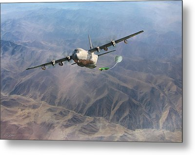 Metal Print featuring the digital art Mother Do You Think They Will Drop The Bomb by Peter Chilelli