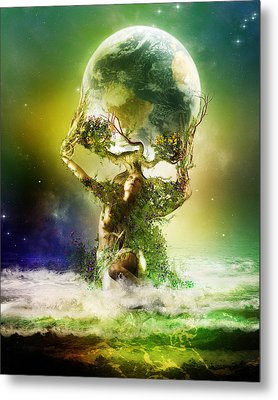 Mother Earth Metal Print by Mary Hood