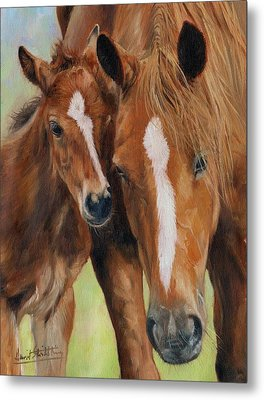 Mother Love Metal Print by David Stribbling