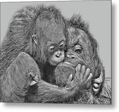 Mother Love Metal Print by Larry Linton