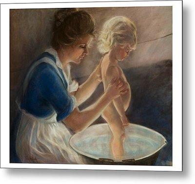 Mother Love-the Bath Metal Print by Pamela Mccabe