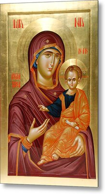 Mother Of God Metal Print by Daniel Neculae