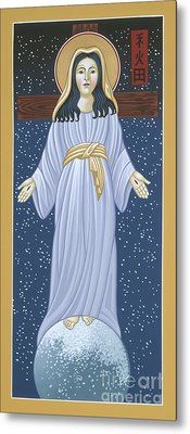 Metal Print featuring the painting Mother Of God Of Akita- Our Lady Of The Snows 115 by William Hart McNichols