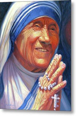 Mother Teresa Metal Print by Steve Simon