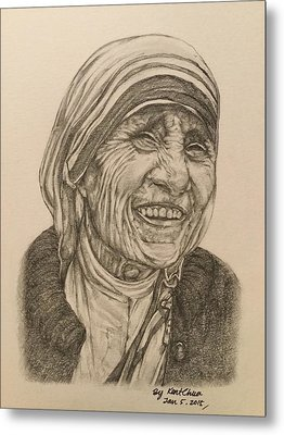 Mother Theresa Kindness Metal Print by Kent Chua