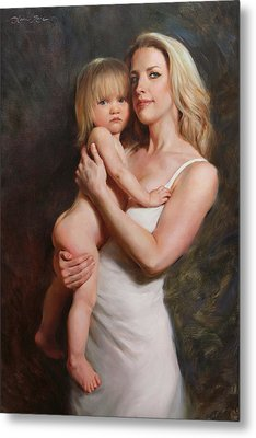 Motherhood Metal Print by Anna Rose Bain