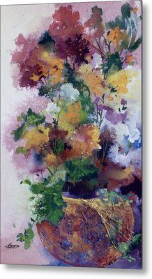 Metal Print featuring the painting Mother's Day Floral by Helen Harris