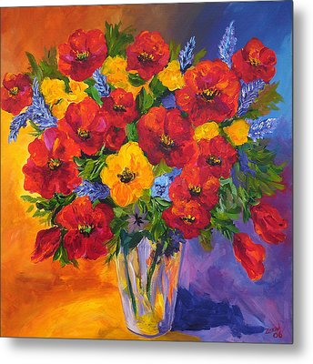 Mothers Spring Flowers Metal Print