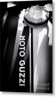 Metal Print featuring the photograph Moto Guzzi by Tim Gainey