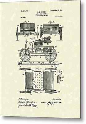 Motor Vehicle 1901 Patent Art Metal Print